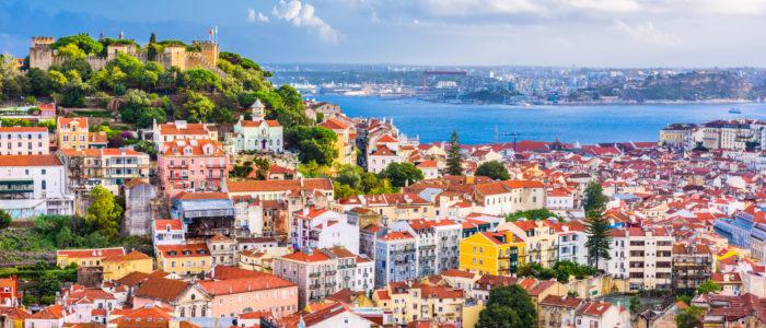 Lisbon, Portugal City Skyline