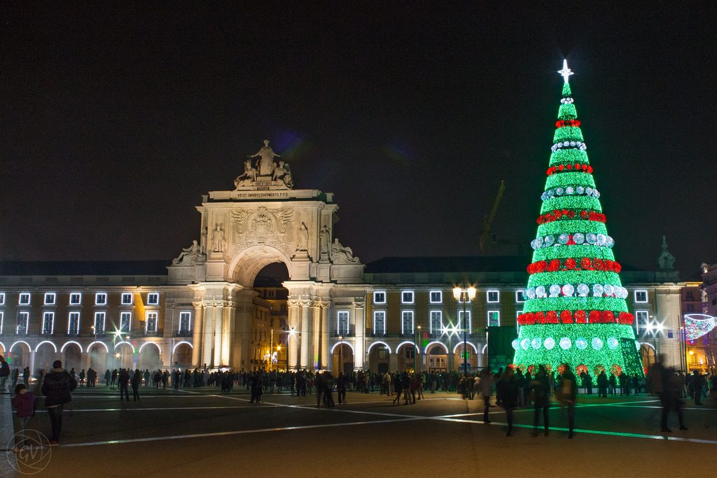 Christmas Tree at Praça do Comércio in Lisbon.