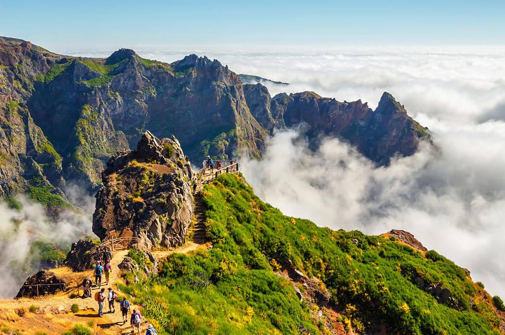 Pico-do-Areeiro-summit-in-central-Madeira,-Portugal, Tour Azores Travel